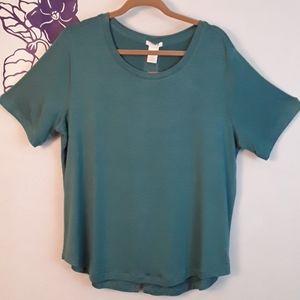 Matty M short sleeve tee shirt teal NWT 0359